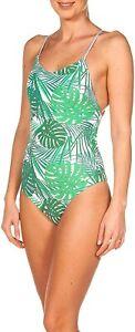 ARENA women swimsuit swimsuit W One Piece Twist Back, Green, 34