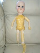 Antique German Bisque Head Doll Fully Jointed Body