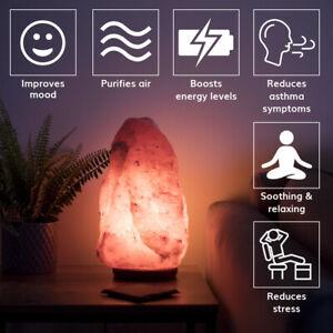 Himalayan Salt Lamp, Pink Crystal Relaxing Healing Natural Lamp, Certified