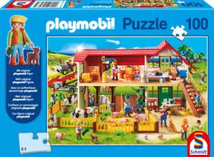 PLAYMOBIL® - BAUERNHOF * FARM - Schmidt Puzzle 56163 + Figur - 100 Pcs.