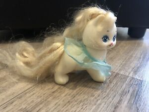 My Little Pony White Kitten Cat Ice Cream Cone Mattel 1989 Vintage 3""