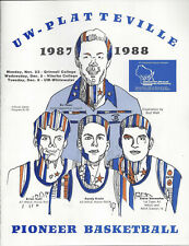 1987 UW Platteville v 3 Teams Basketball Program Signed CHOF HC Bo Ryan 2AC 20PL