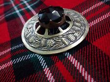 Regalo De Navidad Kilt FLY Broche Tela Escocesa Cardo Diseño Negro Antigüedad