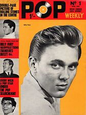 Pop Weekly Magazine 29 August 1964    Billy Fury   The Hollies   Rolling Stones