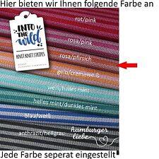 Hamburger Liebe Knit Knit Maxistripes  rosa pfirsich; Bio Jacquard Jersey Ringel