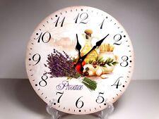 """Reloj De Pared Colgante de gran 33.5 Cm Estilo Country """"Provence"""" diseño de la Flor #1"""