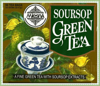 Mlesna Pure Ceylon Soursop Green Tea 50 Tea Bags.