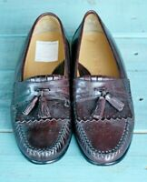 Johnston & Murphy Brown Tassel Loafer Shoes Mens Size 8.5 D Unisex Leather VTG