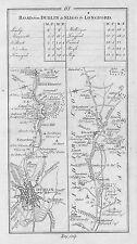 1778 Ireland Dublin Leixlip Maynooth Kilcock Mullingar etc Antique Road Map