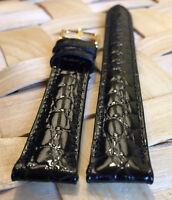 14mm Genuine MOVADO Black Calf Skin Watch Strap Band Brand New Retail $90.00