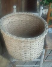 ANTIQUE LOUISIANA PLANTATION COTTON BUSHEL BASKET SPLIT OAK. SUPER !!