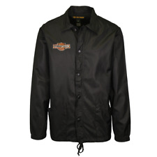 Harley-Davidson Men's Black Windbreaker Full Zip Jacket (S10)