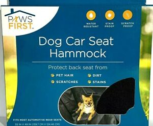 """New!! Paws First Dog Car Seat Hammock 55""""x49"""" Water Stain Resistant Seat Cover!!"""