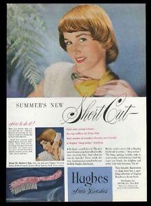 1948 Hughes hair brush short hair woman photo vintage print ad
