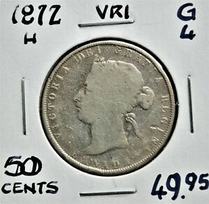1872-H Canada 50 Cents