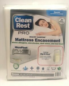Clean Rest Pro Size Queen Allergy and Bed Bug Blocking Mattress Encasement