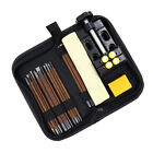 18 Pcs/set Stone Carving Knife Tool Set Woodworking  Tools Clamp Bed