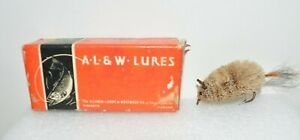 Vintage AL&W Allcock Laight Westwood Deer Hair Mouse Fly Fishing Lure w/ Box