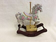 Sf Music Company. Rocking Carousel Horse Music Box. 1989. Excellent Condition.