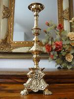 Kerzenleuchter Barock Kerzenhalter Kerzenständer Gold Antik Kirchenleuchter Edel
