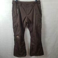 THE NORTH FACE HyVent Women Ski Trousers Brown Size L Waterproof Salopettes