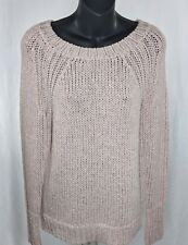 Anne Taylor Petite Sweater Long Sleeve Knitted Light Pink woman's MP
