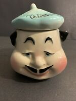 "American Bisque Pottery ""French Chef"" Relish Jar With Lid Mid Century"