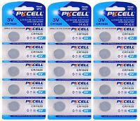 15 x CR1620 3V Lithium Knopfzelle 70 mAh ( 3 Blistercard a 5 Batterien ) PKCELL