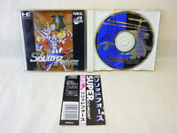 PC-Engine SCD SOLID FORCE with SPINE CARD * PCE Grafx JAPAN Video Game pe