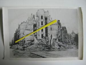 Original WK2 Presse Foto Berlin Moabit Endkampf Bombenschäden Luftangriff Ruinen