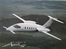 DOCUMENT PUBLICITAIRE RECTO VERSO AVION PIAGGIO P180 AVANTI EXECUTIVE AIRCRAFT