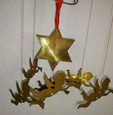 Brass Angel Mobile Chime Star  With Box  Hang by heat source