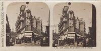 Lourdes Escena De Calle Francia Foto Estéreo Vintage Analógica Aprox 1920
