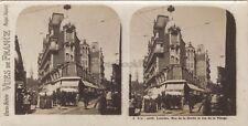 Lourdes Scène de rue France Photo Stéréo Vintage argentique ca 1920
