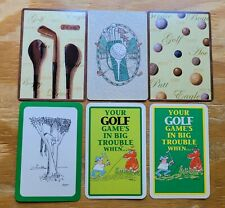 GOLF - Lot of 6 Single Vintage Swap Trading Playing Cards Golfing Theme
