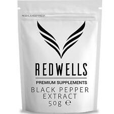 Negro Pimienta Extracto 50g • piperine 95% • Envío rápido • Free Scoop