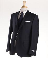 NWT $2295 CANALI 1934 Black Tonal Stripe 3-Piece Wool Suit 44 R Regular-Fit