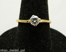 VTG JABEL 18kt .25 Carat Round Brillant Cut 4 Prong Set Engagement Ring Size 6