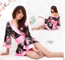 Sexy Night dress Lingerie Sleepwear Flowers Kimono Costume Halloween Clothes