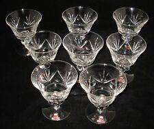 "SKRUF - Swedish Crystal - Fan Cut - Lot of 8 - 4 3/8"" Champagne Glass"