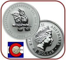 2006 Australia Kookaburra 1 oz. Silver Coin - BU direct from Perth Mint roll