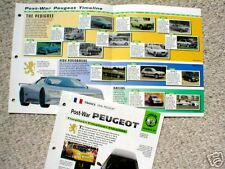 PEUGEOT Timeline History Brochure:203, 205 GTI,205 T16,OXIA,104,205 T16,406,306,