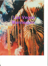 LAS VEGAS FEMALE SHOWGIRL MANNEQUIN IN GLITTER BEADS GOWN BOA FEATHERS ART PHOTO