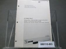 Heidenhain Sealed Incremental Linear Encoder Ls704/Ls 704C Mounting Instructions