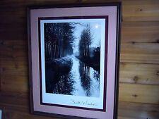 Vtg Brett Weston American (1911-1993) Canal Netherlands 1971 Framed Photo Poster