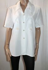 LAUNDRY Brand White Embroidered Short Sleeve Shirt Top Size 16 BNWT #SE119
