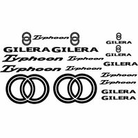 SET ADESIVI PER CARENE CARENA NERO GILERA TYPHOON STICKERS LOGO