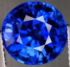Unheated 3.83Cts Natural Mined Sri-Lanka Blue Sapphire 9mm Round Cut VVS Gem