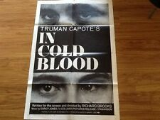 In Cold Blood Truman Capote 1967 Crime Poster