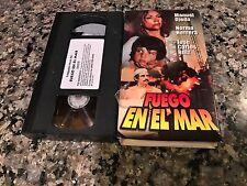 Fuego En El Mar Rare VHS! Spanish Mexi Action! Manuel Ojeda Oxxo 2001